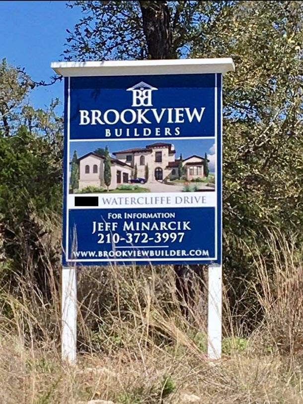 Lago vista sign brookview builders for Lago vista builders